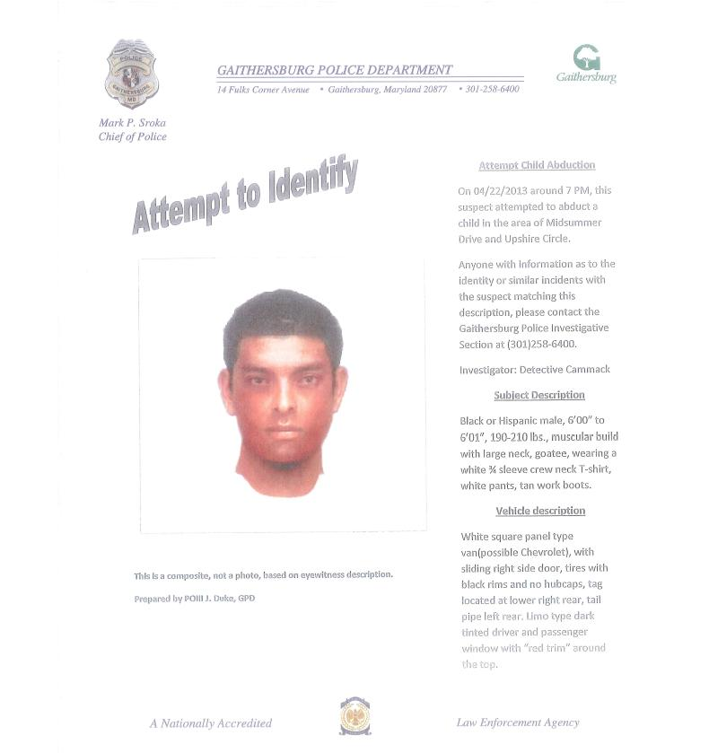 Attempted Kidnapping suspect