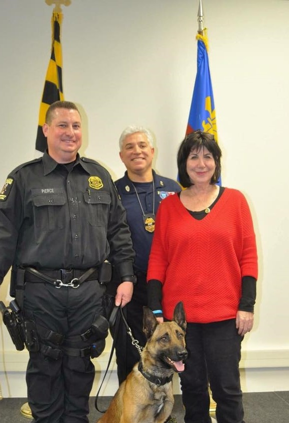 Officer Sean Pierce and K9 Noah, Officer Noah Leotta's parents