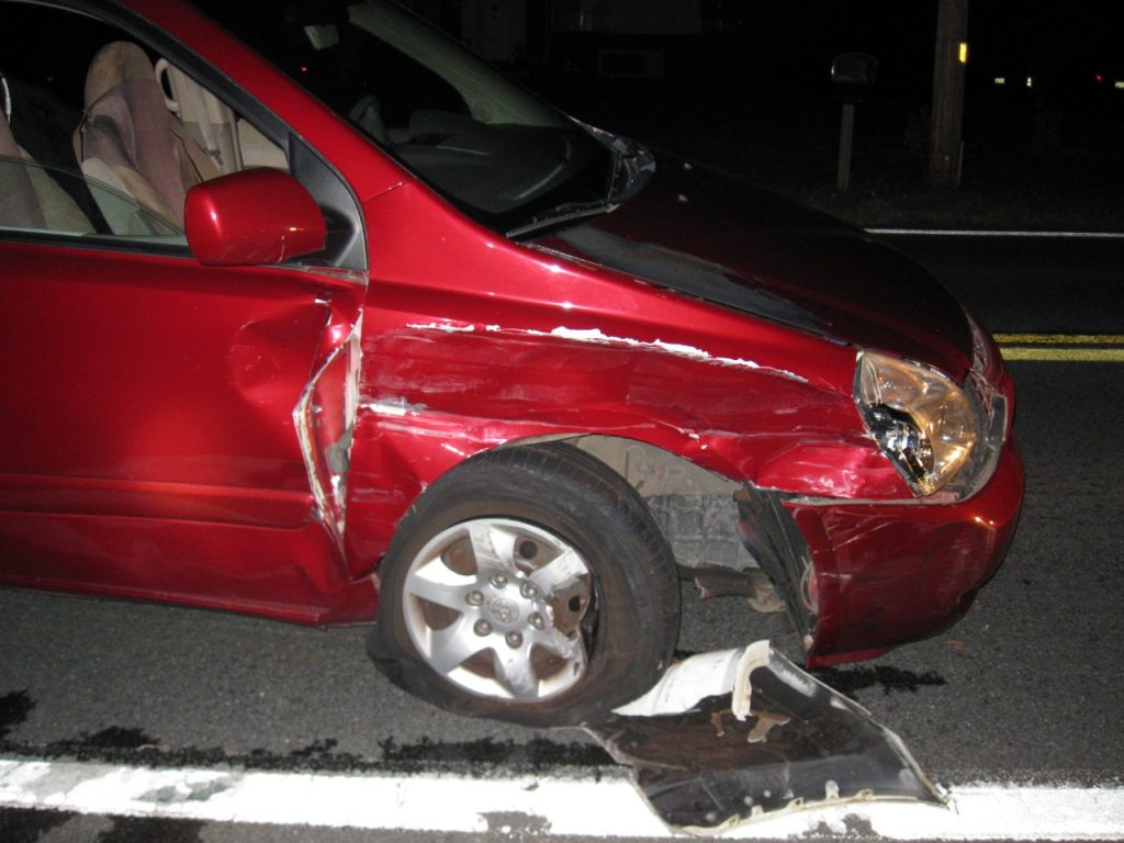 Striking Vehicle - Driver was under the influence of alcohol