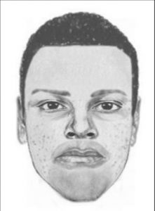 Composite sketch of the suspect in armed robbery of a Regency cab driver