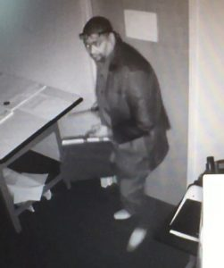 Suspect in Two Commercial Burglaries