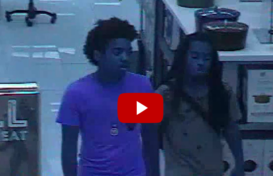 Surveillance Video of Sunglass Hut at Macy's Theft Suspects