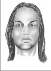 "This suspect is described as an African American male in his 20's with a dark complexion. He is approximately 5'08"" tall and was wearing a waist length wig, a pink and beige halter top, a denim skirt, and beige sandals."