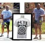 Close-up picture of shirt that detectives believe the suspect is wearing
